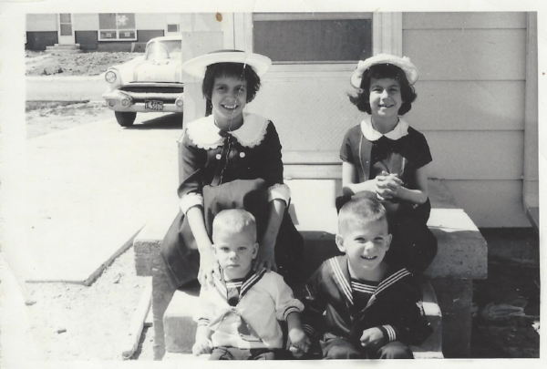 The Myers' kids: Cathy, Terri, Dave, and Tom