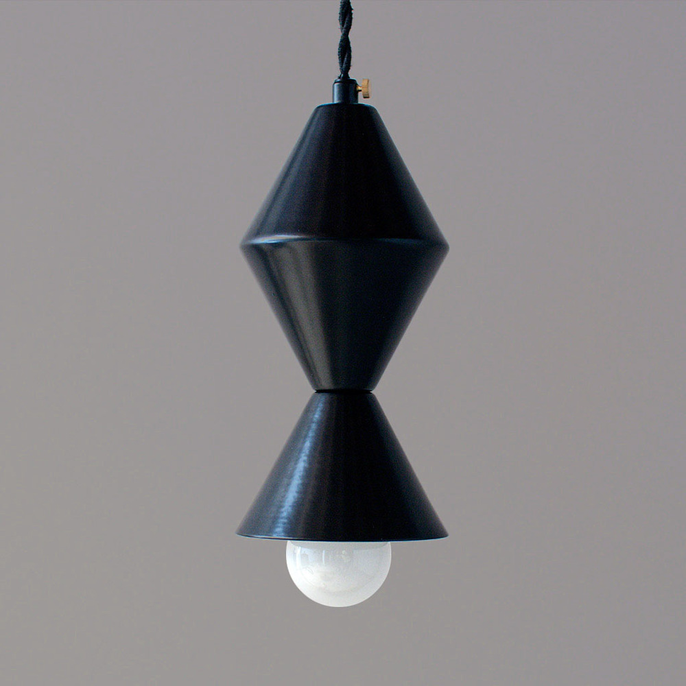 Bevel Pendant in matte black $160