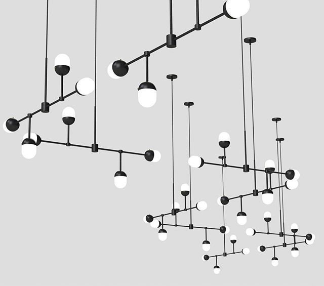 Node 4, times 10. No idea if this will see the light of day, beyond this image that is. But I will probably be dreaming about these 40 nodes glowing in my sleep! It's fun just to experiment on such a large scale. Gives me a completely different perspective on my fixtures.  #designstl #stlcustomlighting #lightfixture #lightingdesigner #stlmade