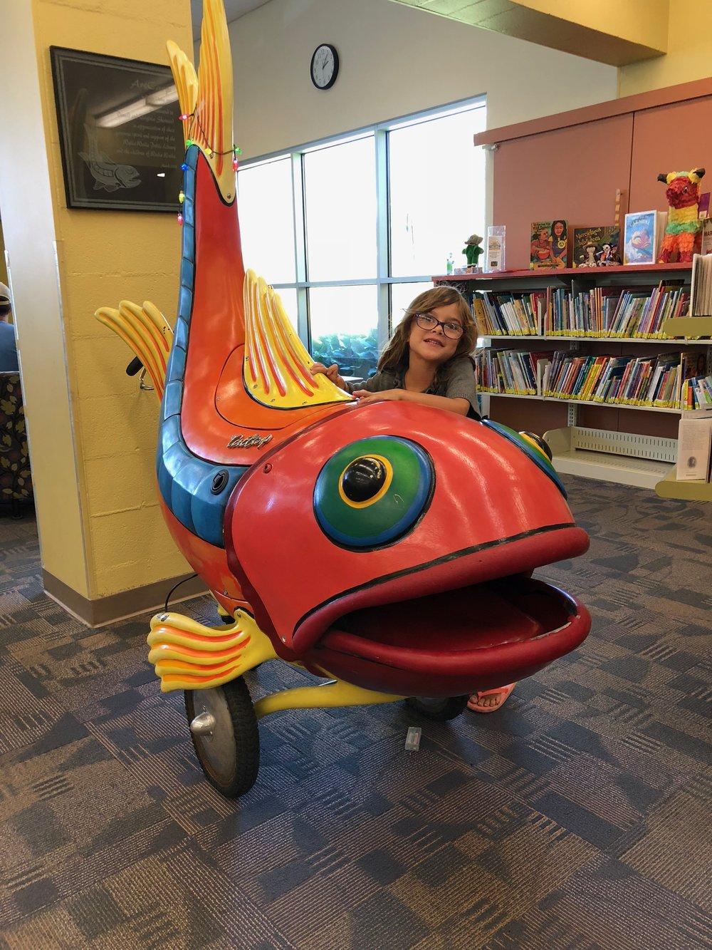 Fish at the Walla Walla library