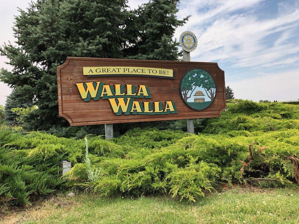 Walla Walla town sign