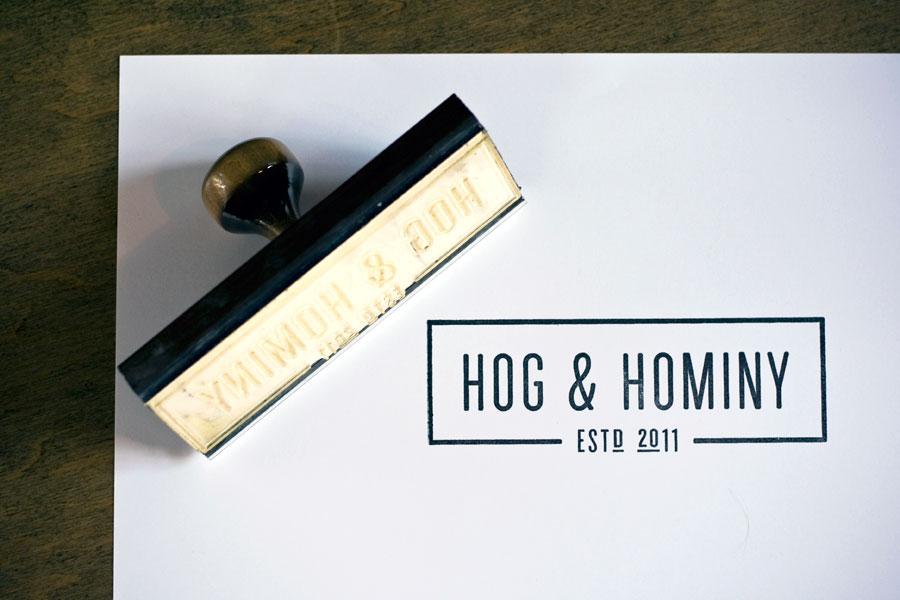 Hog & Hominy Stamp