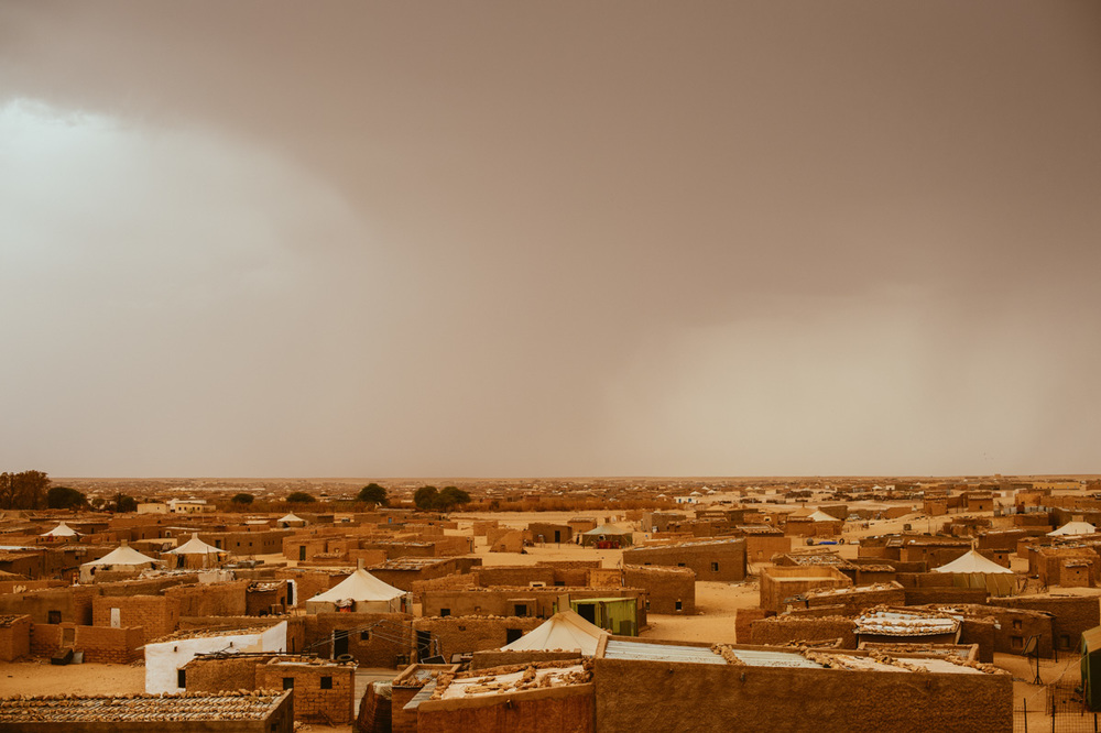 The Laayoune refugee camp — one of six in Algerian territory offered to the Polisario.