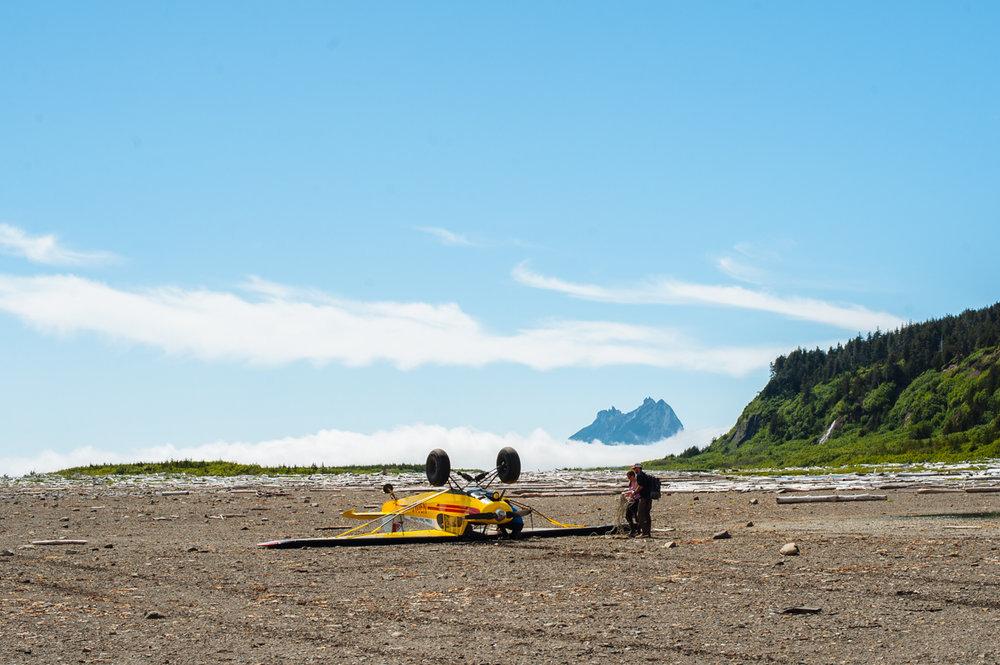 Downed plane on Kayak Island