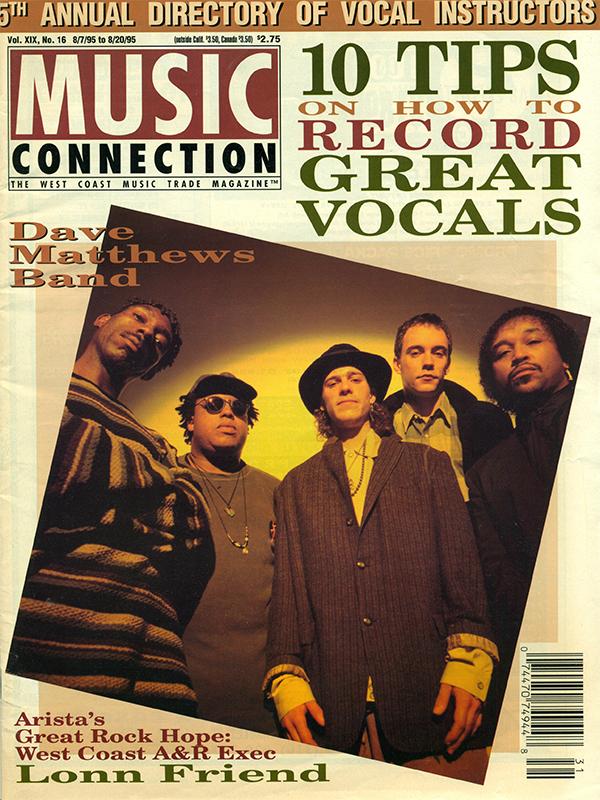 Music Connection - Vol. XIX No.16 - 08/07/95 - 08/20/95