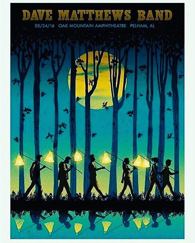 Tonight's #dmb poster in Pelham, AL