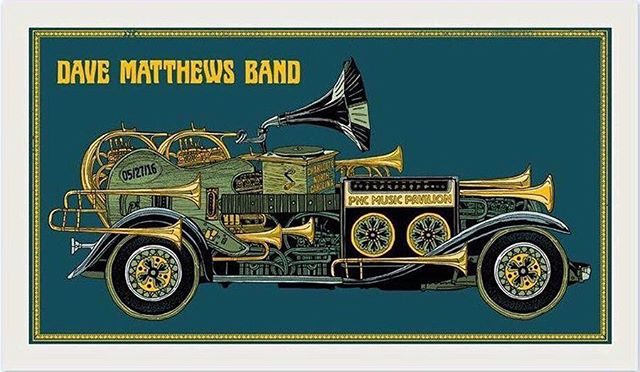 Tonight's Poster 05/27/16 Charlotte, NC - Happy Memorial Day Weekend! #charlotte #dmb25 #dmb #dbtp