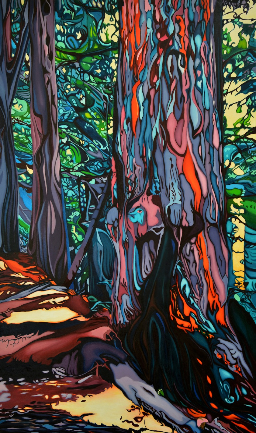 """Tree of Life 60"""" x 36"""" Oil on Canvas"""