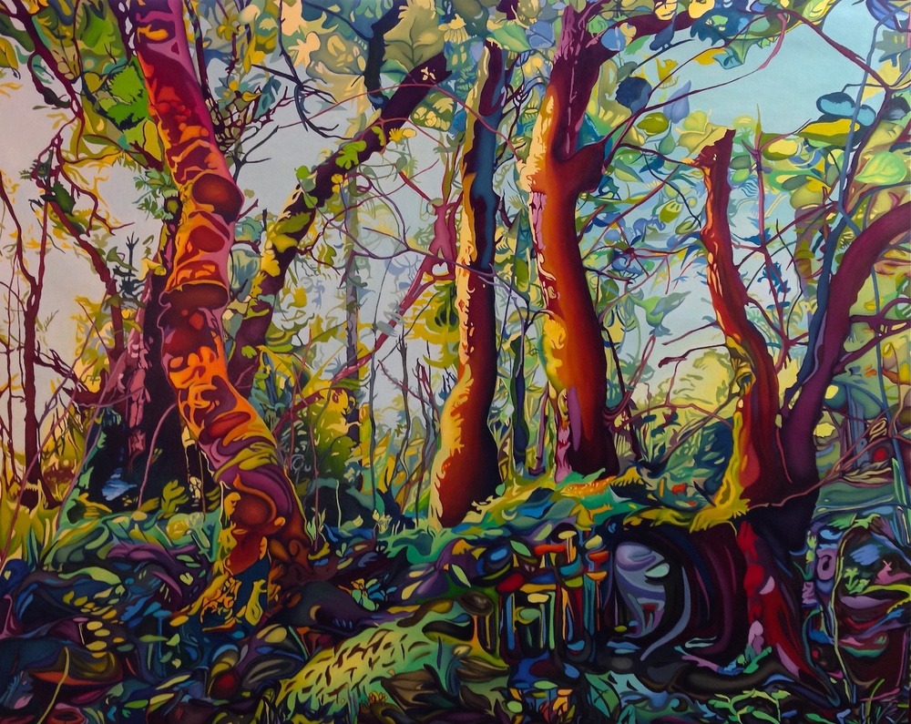"Midsummer Forest (Korsfjord Forest)  48"" x 60""  oil on canvas"