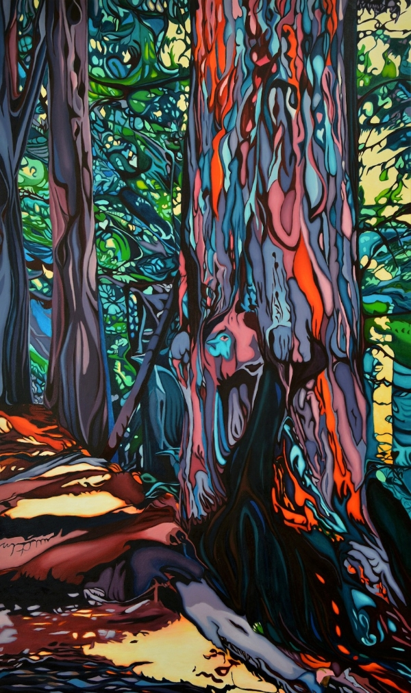 "Tree of Life, 36"" x 60"" oil on canvas     Available at  Art Junction Gallery , Whistler, B.C."