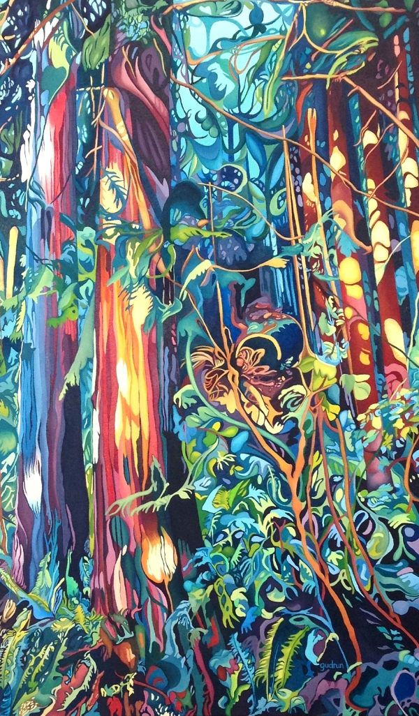"Enchanted  36"" x 60""  oil on canvas"