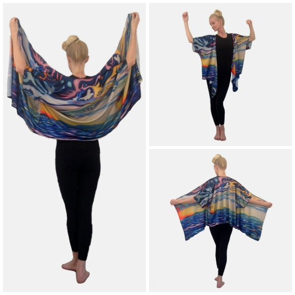 Secret View Draped Kimono