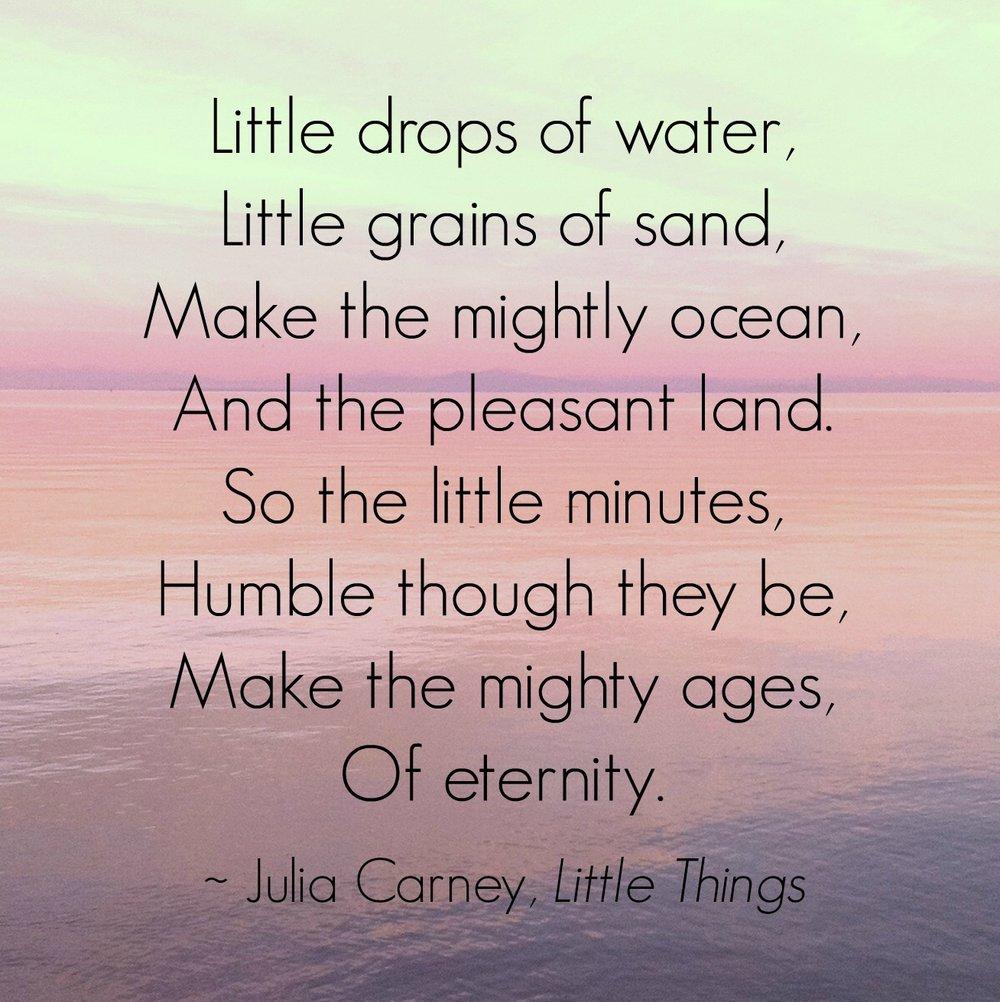 little drop of water makes mighty ocean
