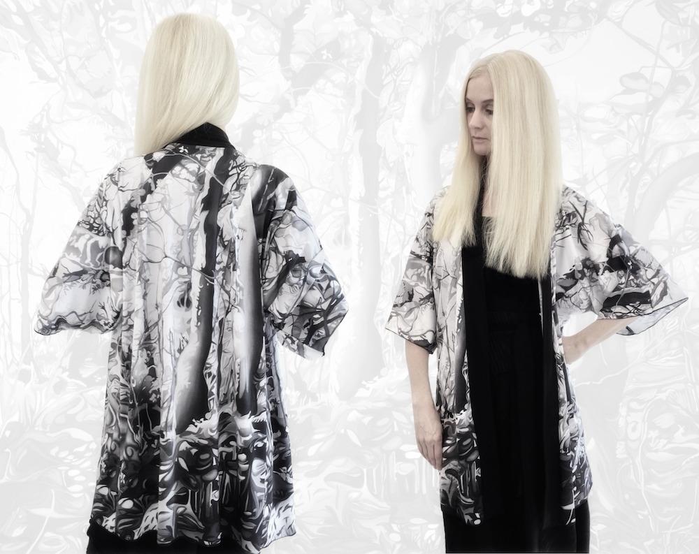 Forest Kimono Robe