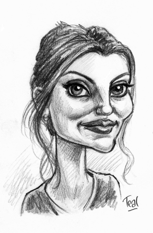 The lovely and charming Ade Teal drew this picture of me. You can see more of the talented Mr Teal's work here.