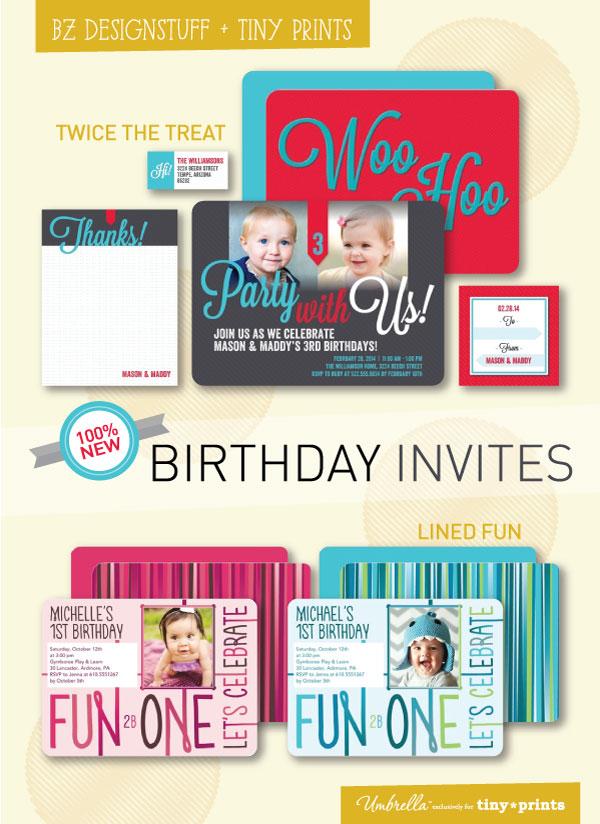 birthday invitations for tiny prints