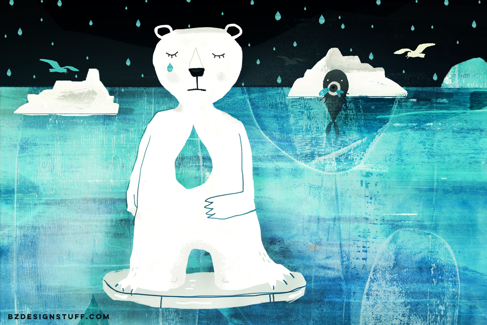 illustrated article: Polar Bears in Danger