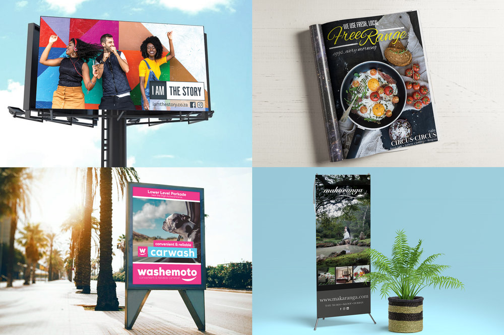 DIGITAL AND PRINT - Representing your brand in all print and digital media. Flyers • Leaflets • Magazine Adverts • Banners • Shop Signage • Street Signage • Billboards • Car Signage