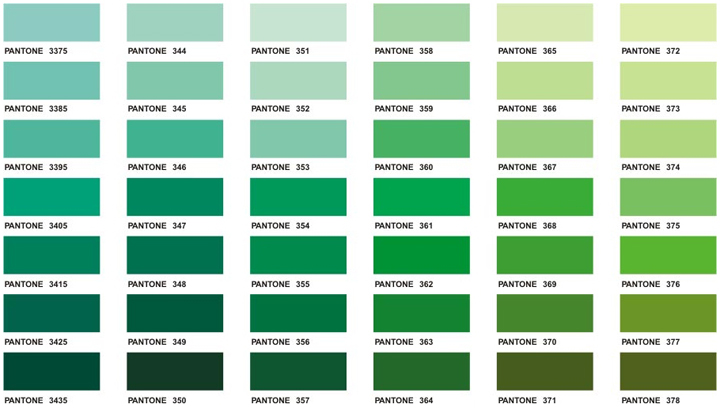 Pantone Shades of Green (http://www.executiveapparel.com/color/ch11.jpg)