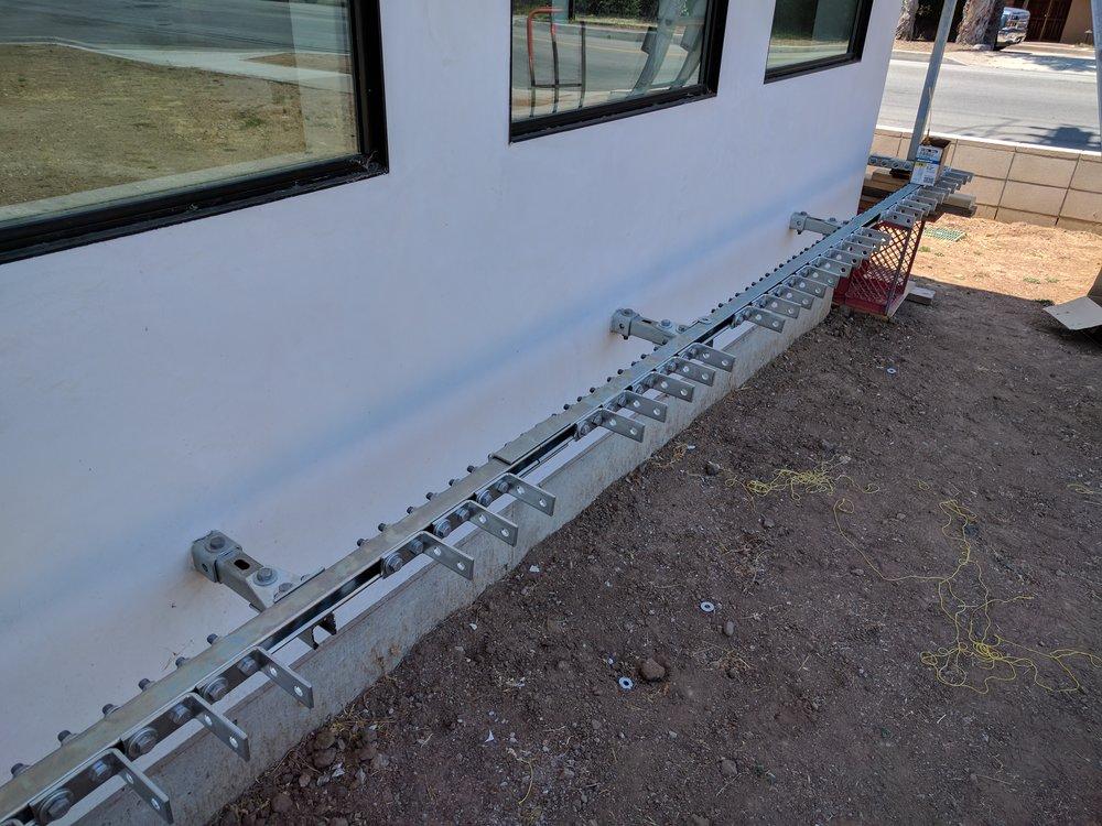 Initial layout of brackets-Lower strut