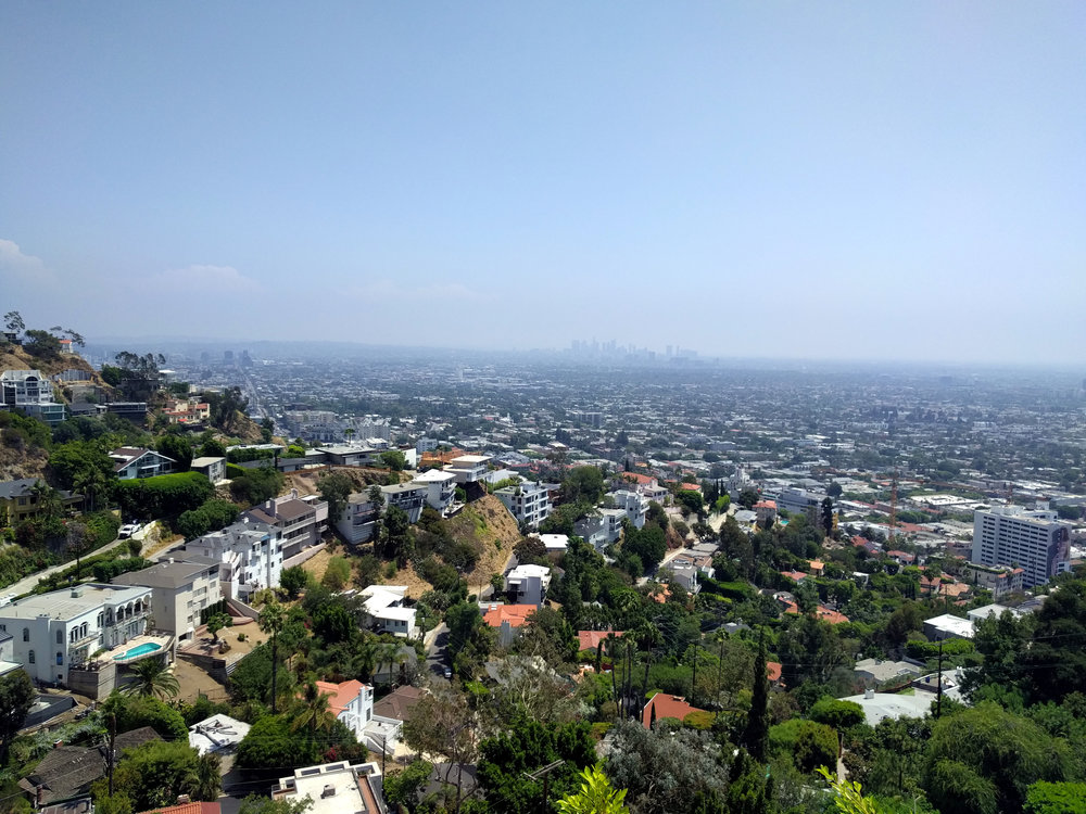 Upper Level Deck: View towards down town Los Angeles.