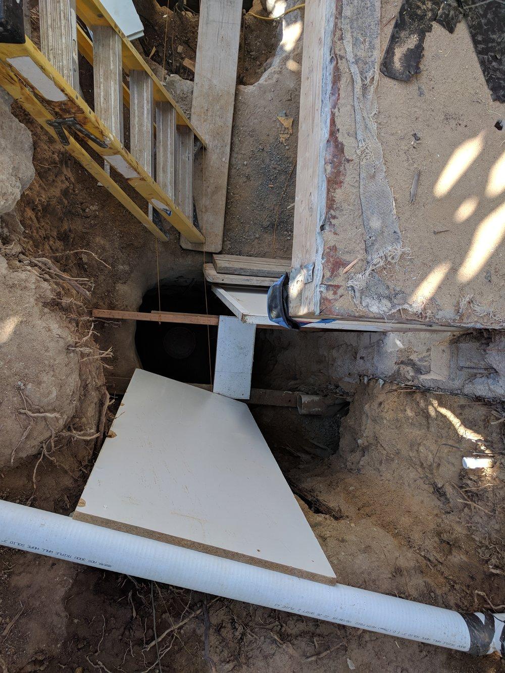 Foundation prep-10 foot deep caissons-ready for concrete.