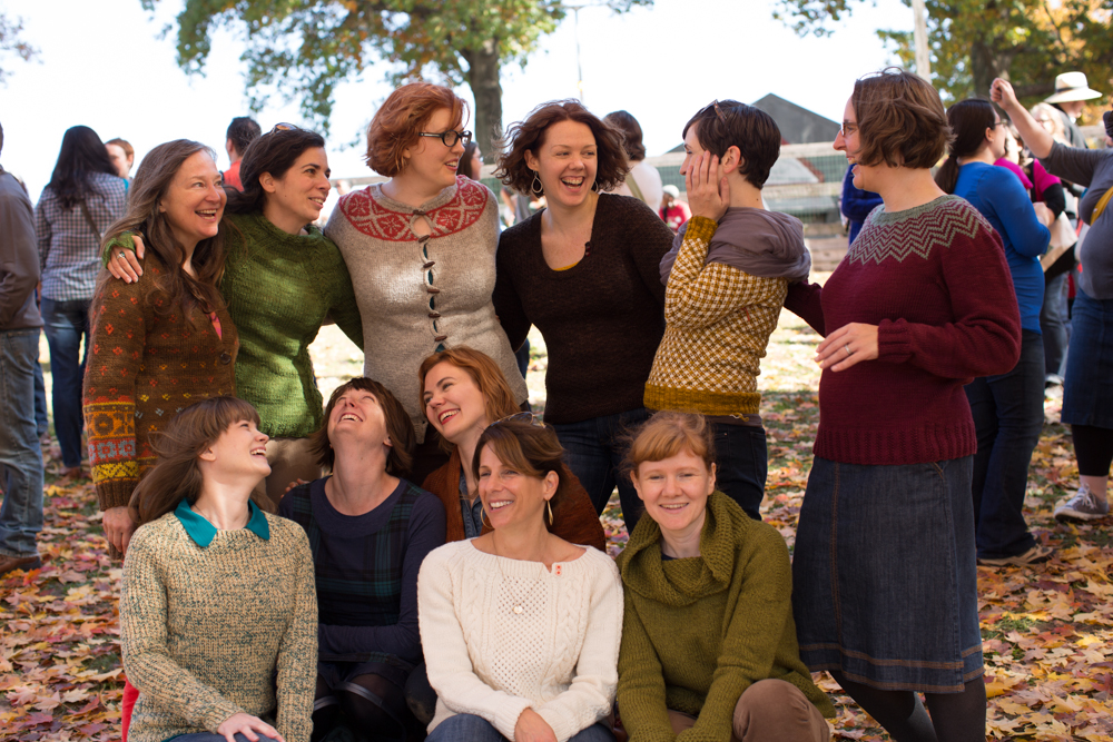 The Rhinebeck Sweater designers photo copyright Ysolda Teague