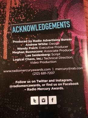 Wendy Frech from Logical Chaos executive produced the 2014 Radio Mercury Awards, from Call for Entry to the awards presentation.