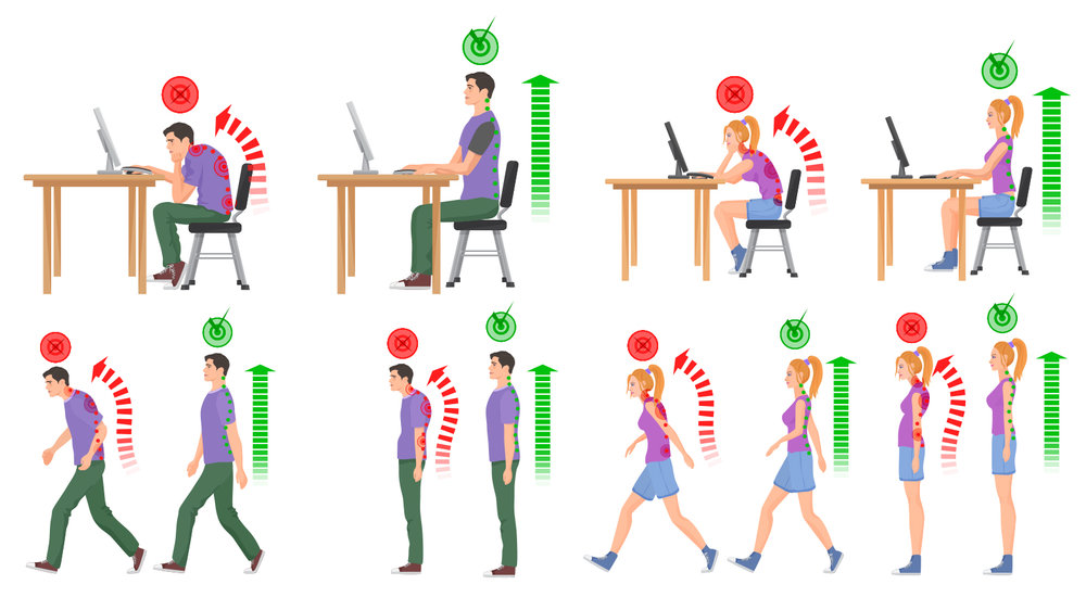 How did you do with the Up & Down Challenge No. 1?    Were you able to keep your spine straight when sitting, standing and walking?