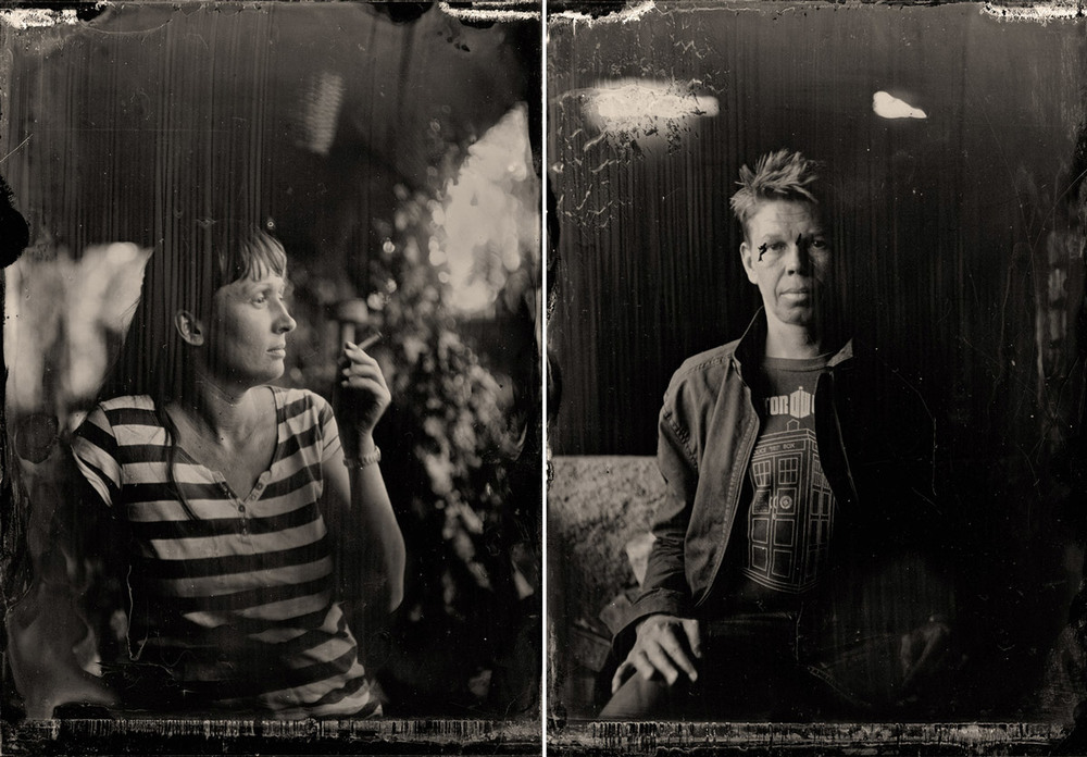 Collodion plates by Charlene Winfred
