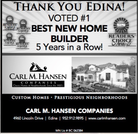 5th year in a row!  Thanks Edina! Published January 2016