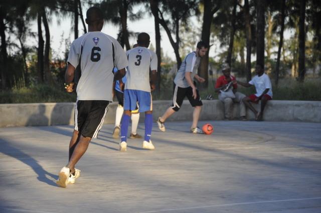 playing futsal at uem