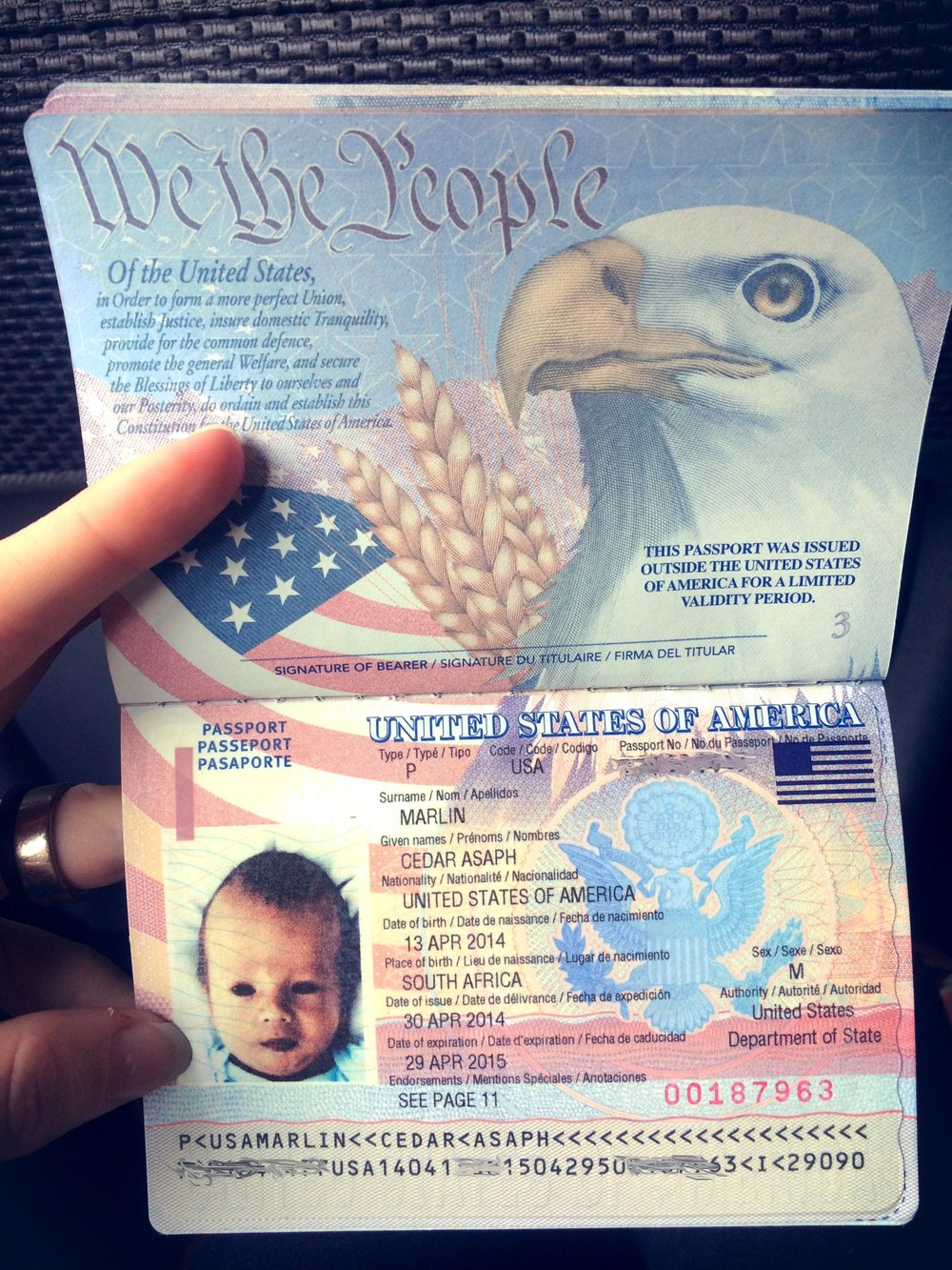 creepy alien baby passport, they stretched his head.