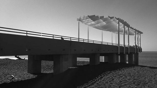 #pier #newzealand #napier #blackandwhite #beach