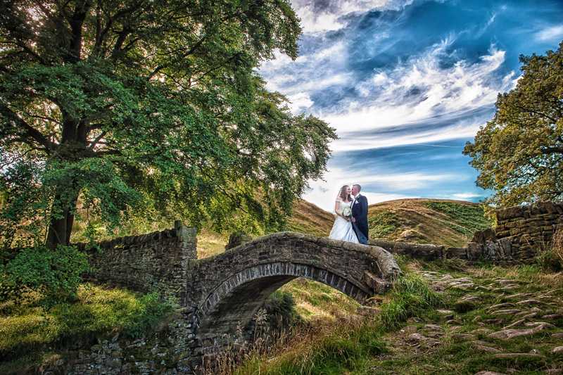 Chris and Louise captured at a favourite spot near to the Hey Green Country House Hotel.