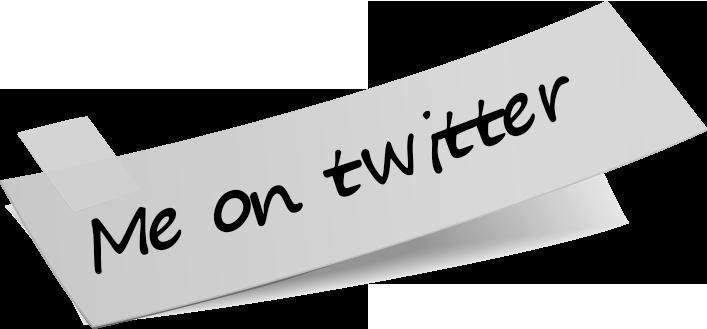 Me on twitter