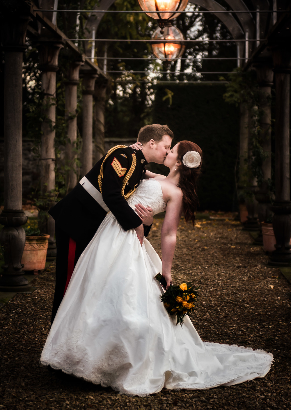 We took a brief stroll in the Gardens at Hassop Hall to capture this shot of Anthony and Adele.