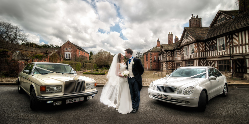 When the location is perfect, large panoramic shots really create impact and Joe and Jo's wedding at Adlington Hall was a great excuse for such a dramtic image.