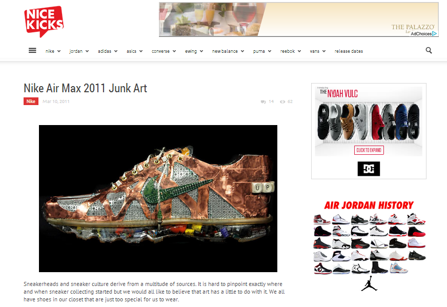 Featured on Nicekicks.com -