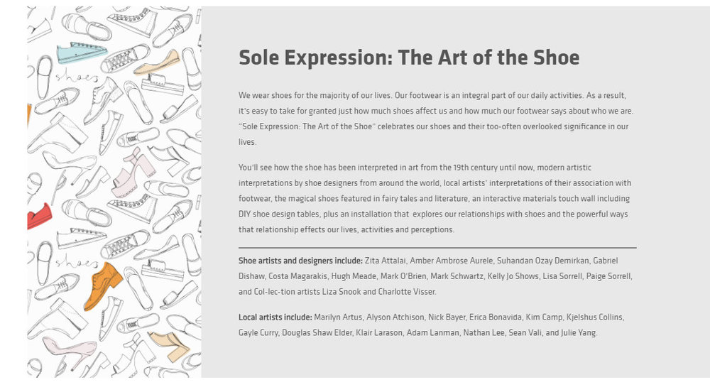 On Display at Sole Expression: The art of the Shoe / From Feb 2017 to Jan 2018 -