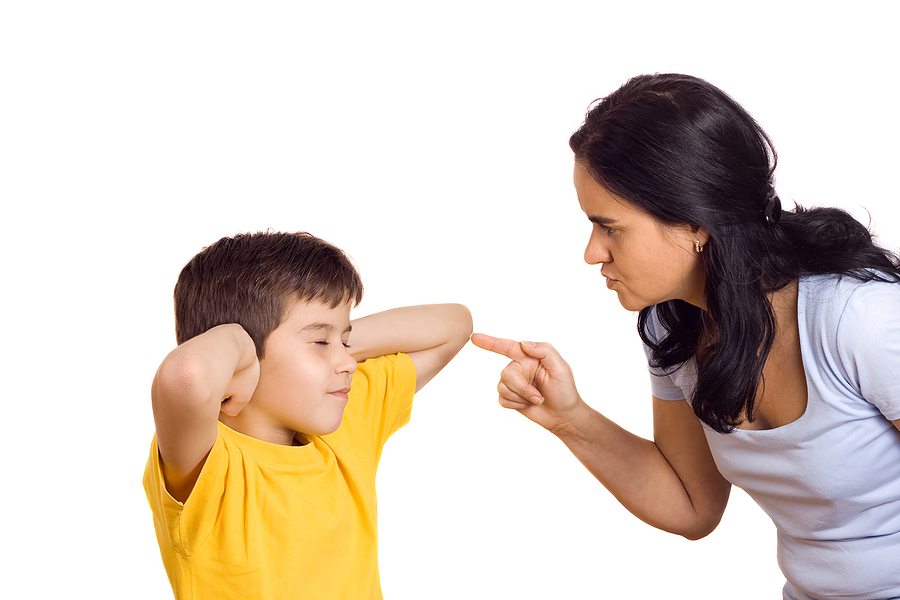 mom talking hurtful things back to child