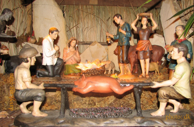 Uniquely Filipino Nativity Scene