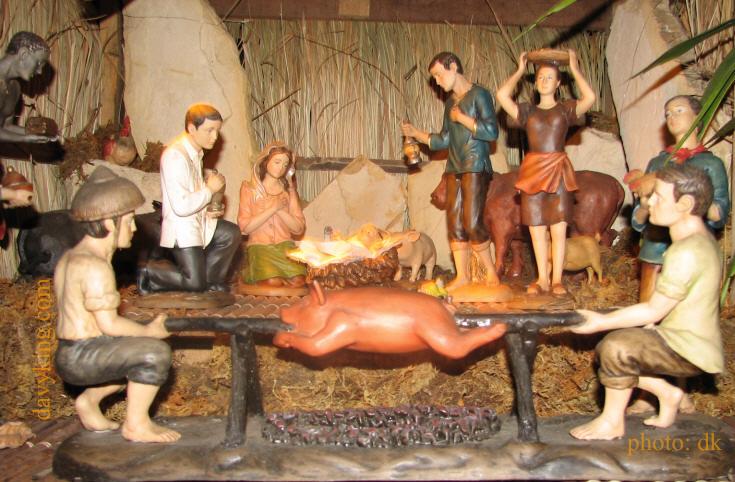 Uniquely Filipino Nativity Scene