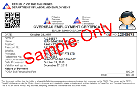 Arrow employment services what to prepare if your helper will have if your helper will have holidays back to the philippines please make sure she will get overseas employment certificate oec before she will leave hong yelopaper Images