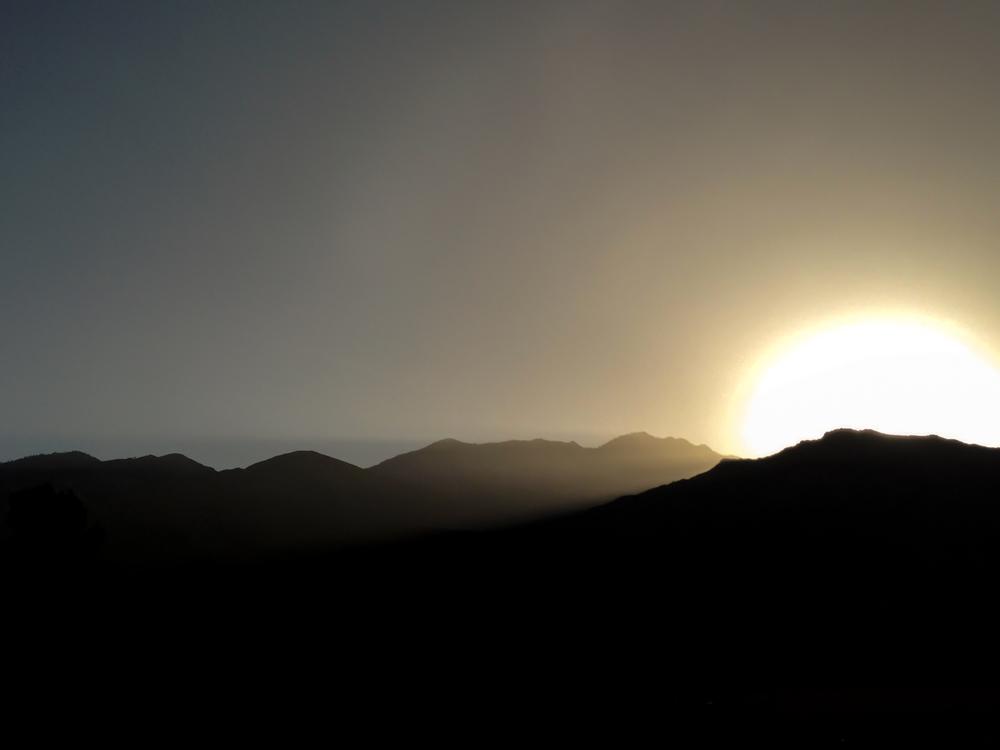 a palms spring sunset