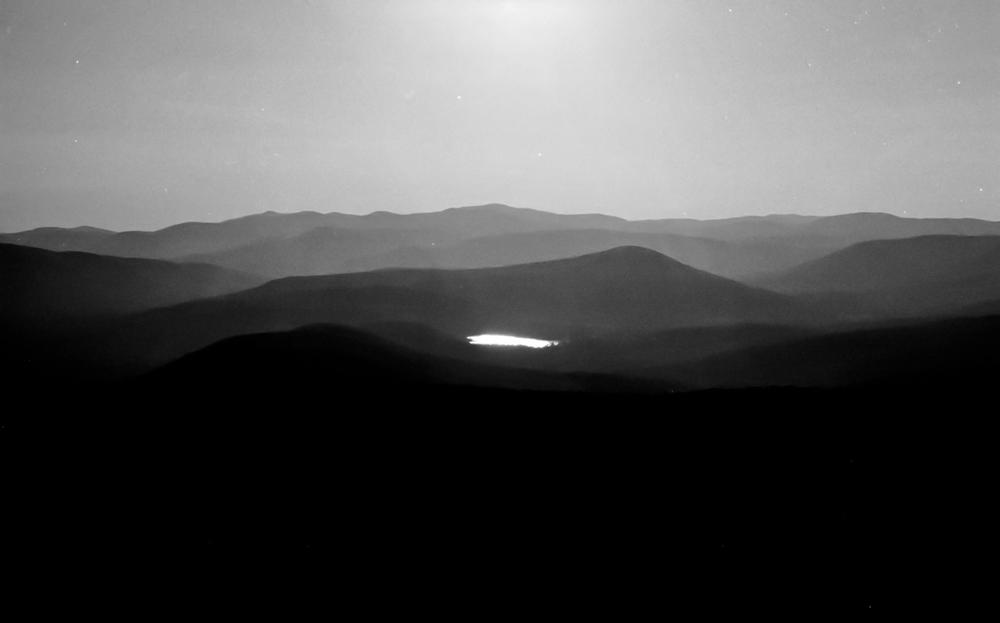 mountaintop lake