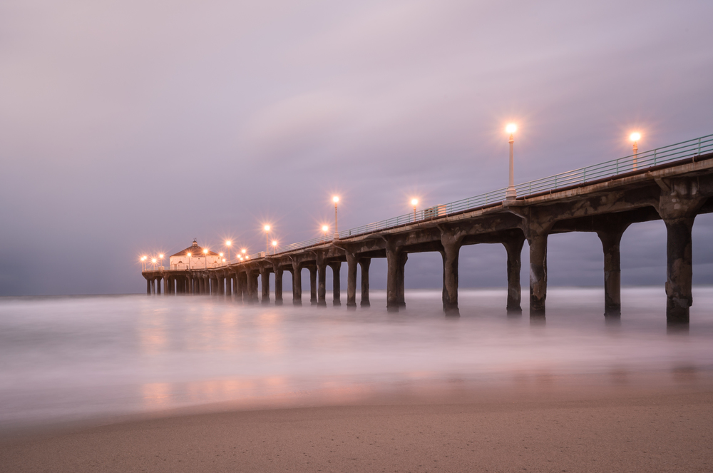 Manhattan Beach Pier Morning Lights