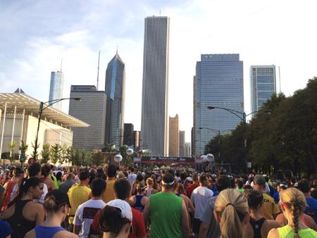 The start of the Half Marathon