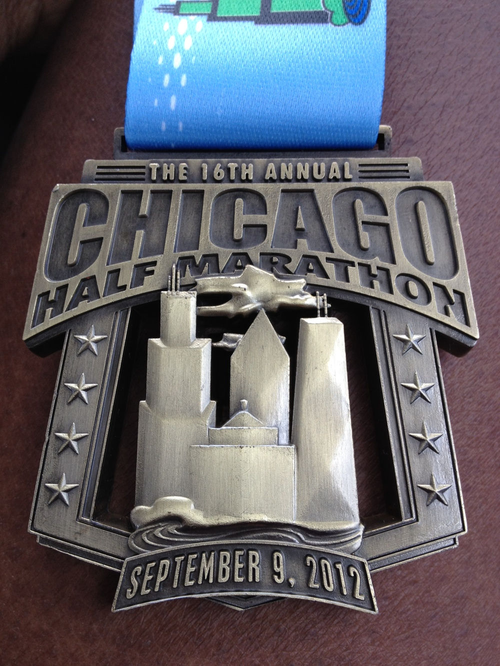 Awesome medal for the Half.  Pretty heavy!