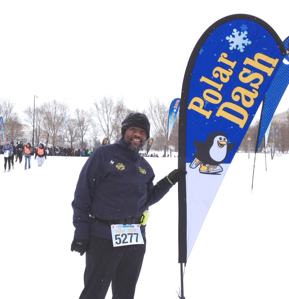 Me before the Polar Dash Half Marathon in January 2012